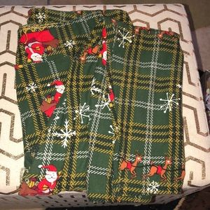 LulaRoe women's Christmas leggings size TC2